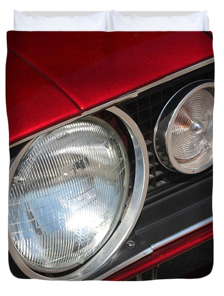 67 Camaro Ss Headlight-8724 Duvet Cover by Gary Gingrich Galleries