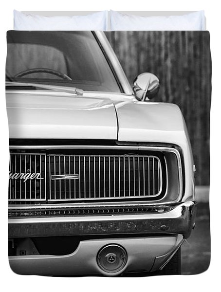 '68 Charger Duvet Cover by Gordon Dean II