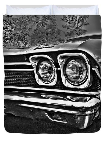 68 Chevelle Duvet Cover by Cheryl Young