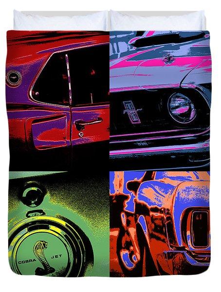 '69 Mustang Duvet Cover by Gordon Dean II