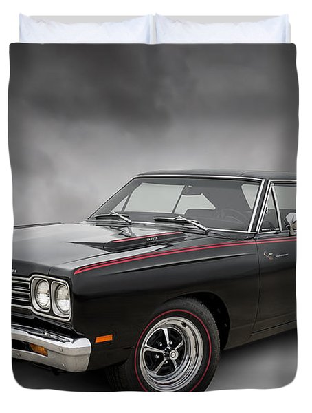 '69 Roadrunner Duvet Cover by Douglas Pittman