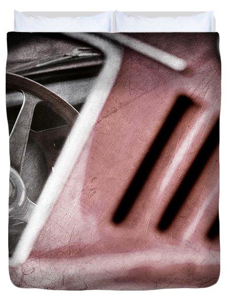 1966 Ferrari 275 Gtb Steering Wheel Emblem Duvet Cover by Jill Reger