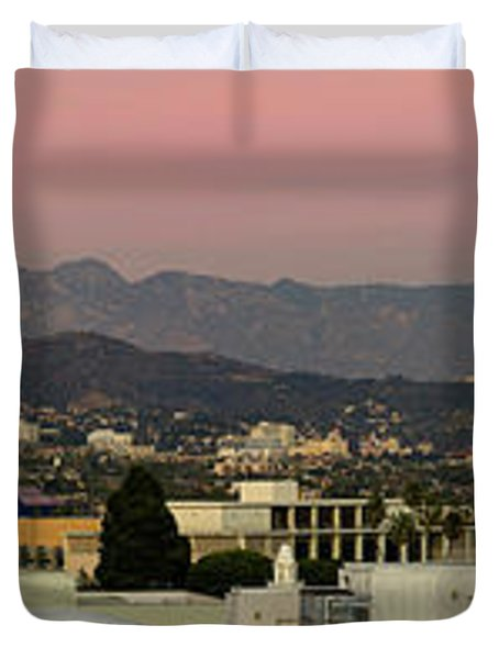 Elevated View Of Buildings In City Duvet Cover by Panoramic Images