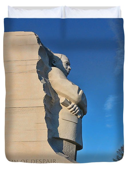Martin Luther King Jr Memorial Duvet Cover by Allen Beatty