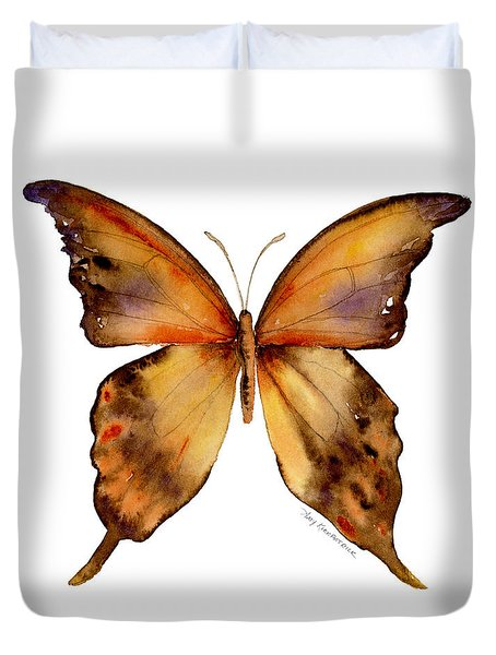 7 Yellow Gorgon Butterfly Duvet Cover by Amy Kirkpatrick