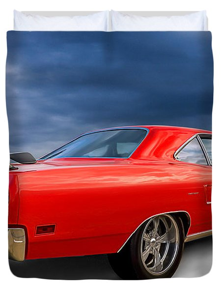 '70 Roadrunner Duvet Cover by Douglas Pittman