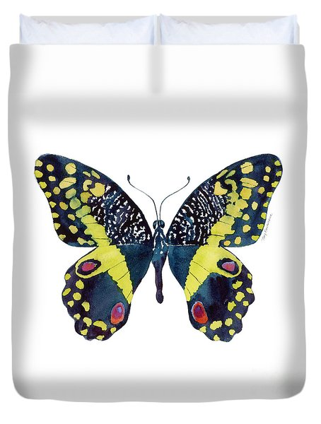 73 Citrus Butterfly Duvet Cover by Amy Kirkpatrick