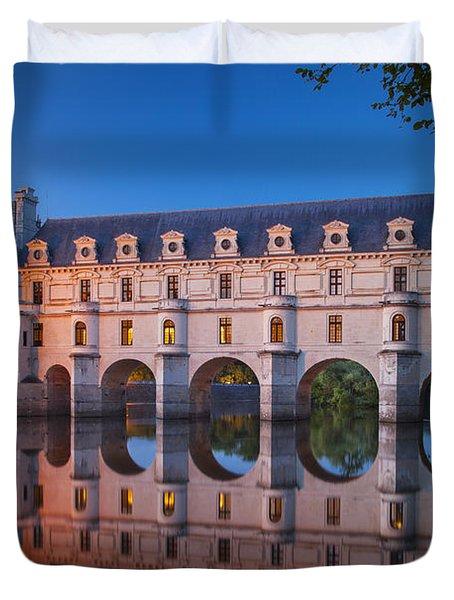 Chateau Chenonceau Duvet Cover by Brian Jannsen