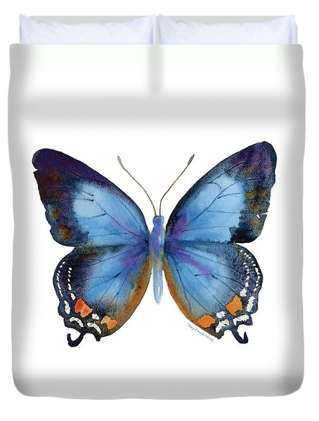 80 Imperial Blue Butterfly Duvet Cover by Amy Kirkpatrick