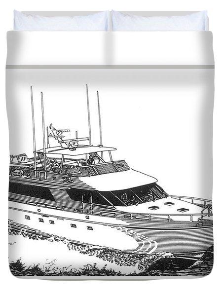 85 foot Custom Nordlund Motoryacht Duvet Cover by Jack Pumphrey