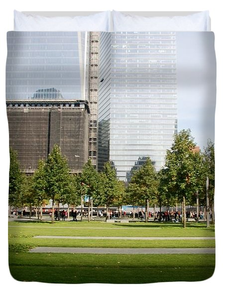 9/11 Grass Duvet Cover by Rob Hans