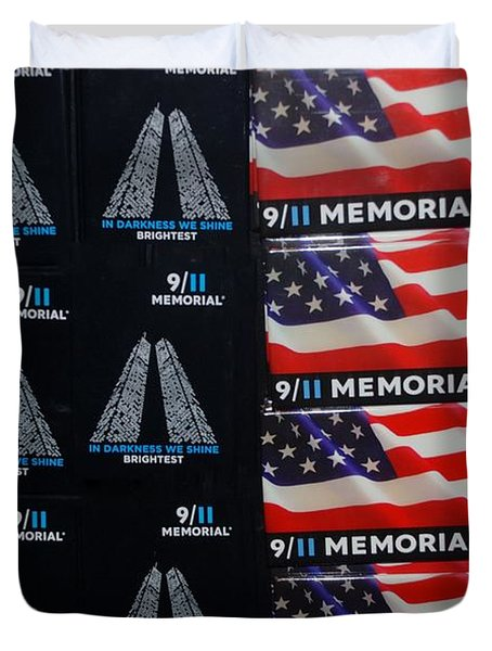 9/11 Memorial For Sale Duvet Cover by Rob Hans