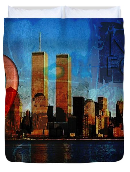 911 Never Forget Duvet Cover by Anita Burgermeister