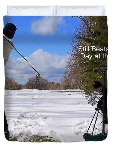 A Bad Day on the Golf Course Duvet Cover by Frozen in Time Fine Art Photography