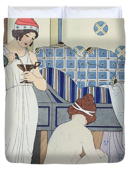 A Bath Seat Duvet Cover by Joseph Kuhn-Regnier