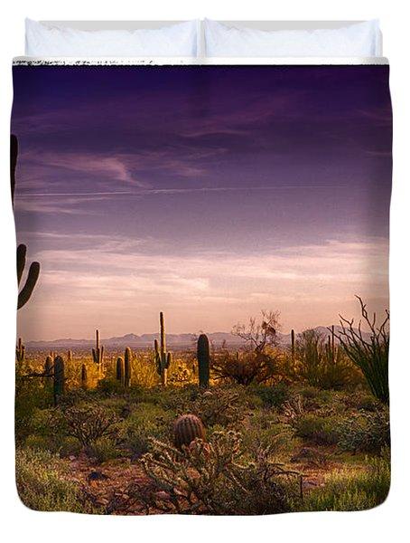 A Beautiful Desert Evening  Duvet Cover by Saija  Lehtonen