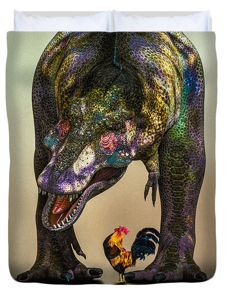 A Bird Are You Crazy Bro Duvet Cover by Bob Orsillo