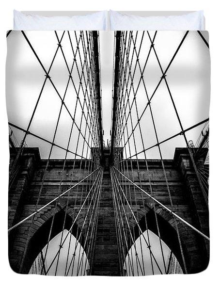 A Brooklyn Perspective Duvet Cover by Az Jackson