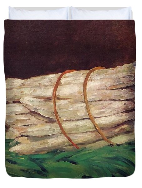 A Bunch Of Asparagus Duvet Cover by Edouard Manet