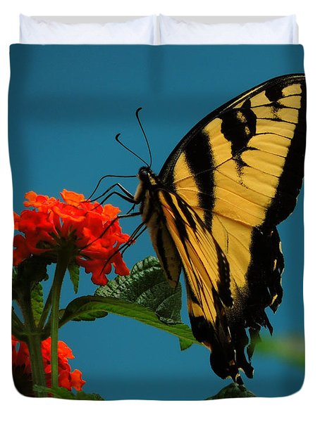A Butterfly Duvet Cover by Raymond Salani III