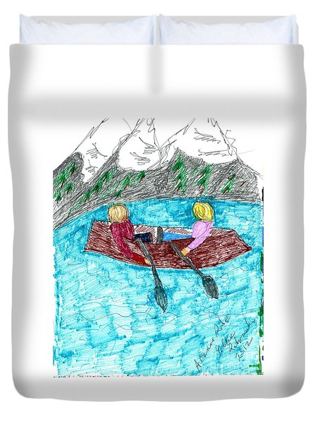 A Canoe Ride Duvet Cover by Elinor Rakowski