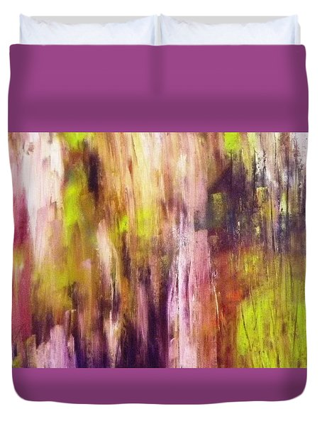 A Cascade Of Hues Duvet Cover by Jagjeet Kaur
