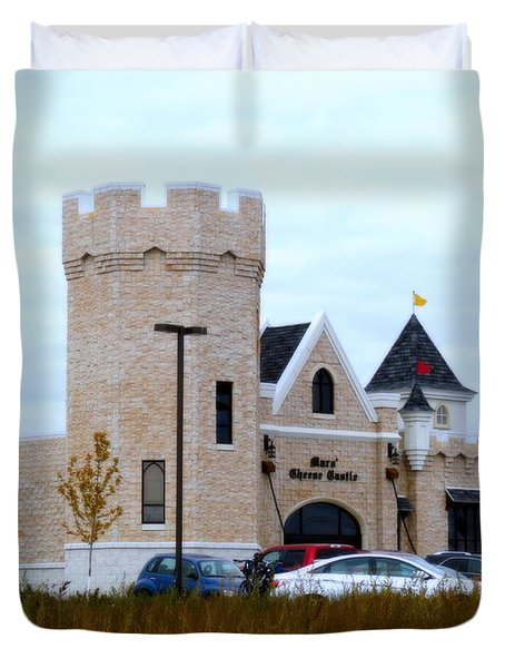 A Cheese Castle Duvet Cover by Kay Novy