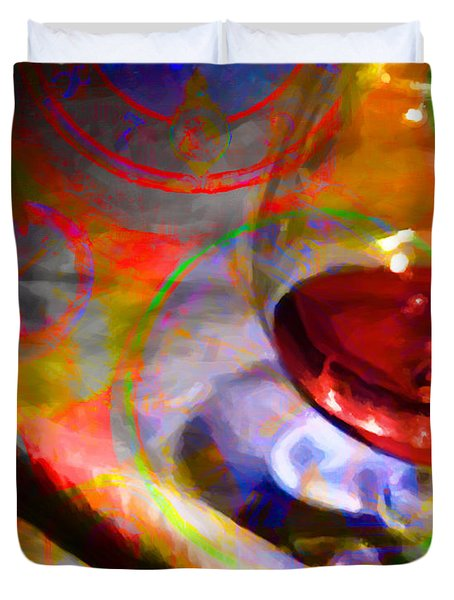 A Cognac Night 20130815 Duvet Cover by Wingsdomain Art and Photography