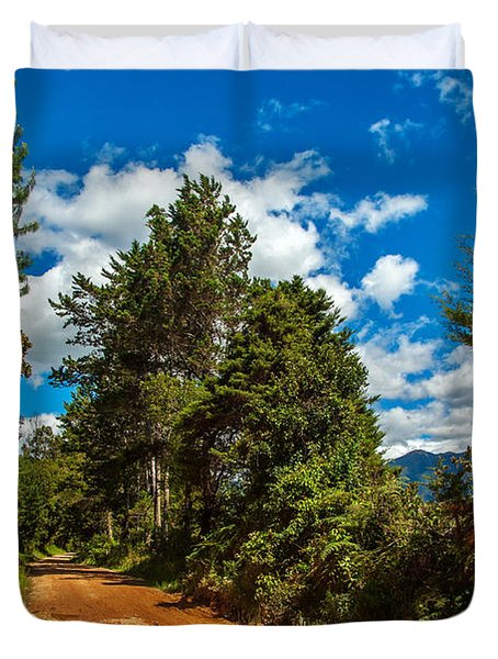 A Country Road In Colombia. Duvet Cover by Jess Kraft