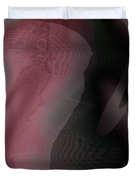 A Craft At Landing Duvet Cover by James Barnes