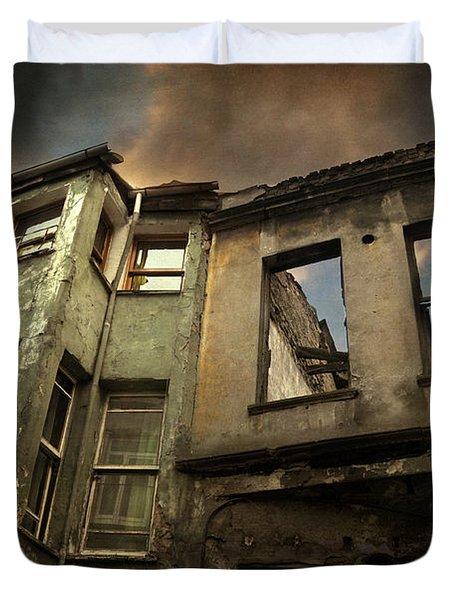 A Day in Balat Duvet Cover by Taylan Soyturk