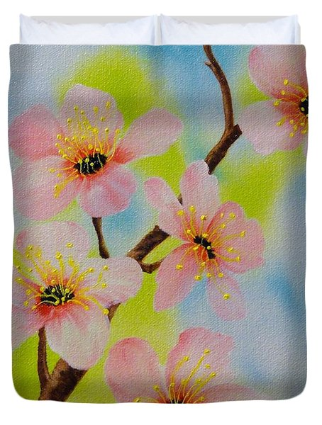 A Dream Of Spring Duvet Cover by Carol Avants