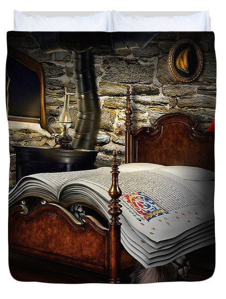 A Fairytale Before Sleep Duvet Cover by Alessandro Della Pietra