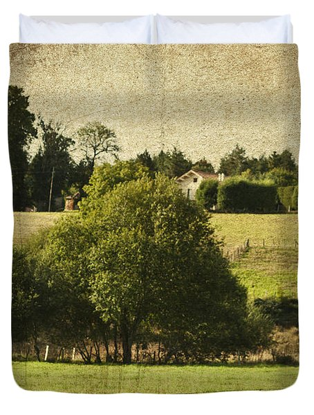 A French Country Scene Duvet Cover by Nomad Art And  Design