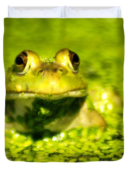 A Frogs Day Duvet Cover by Optical Playground By MP Ray