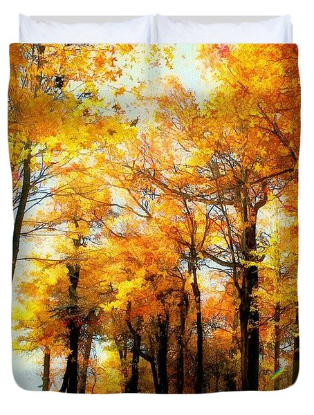 A Golden Day Duvet Cover by Lois Bryan