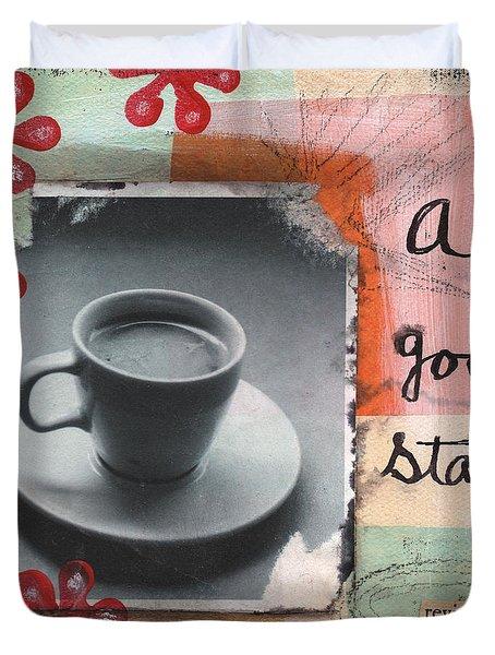 A Good Start Duvet Cover by Linda Woods