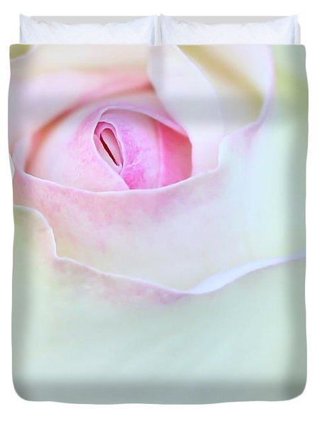A Hint Of Pink Duvet Cover by Sabrina L Ryan