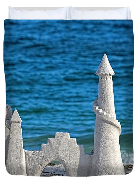 A Kingdom By The Sea Duvet Cover by HH Photography