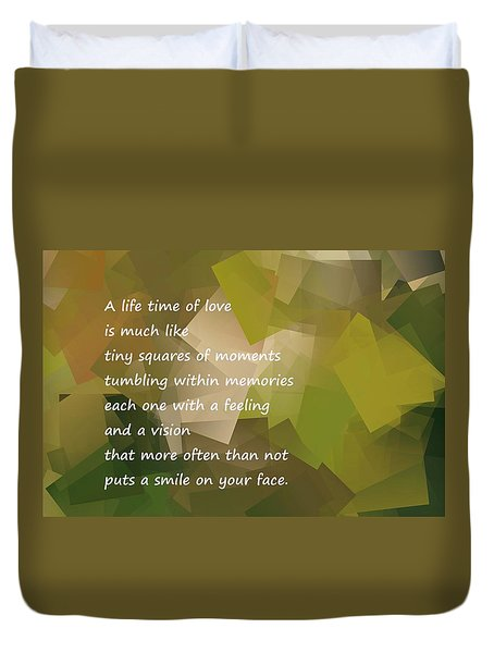 A Life Time Of Love Duvet Cover by Jeff Swan
