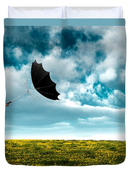 A Little Windy Duvet Cover by Bob Orsillo