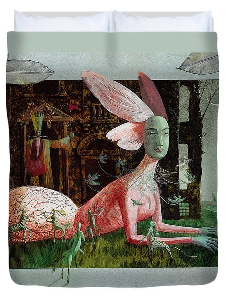 A Midsummer Night's Dream Duvet Cover by Victoria Fomina