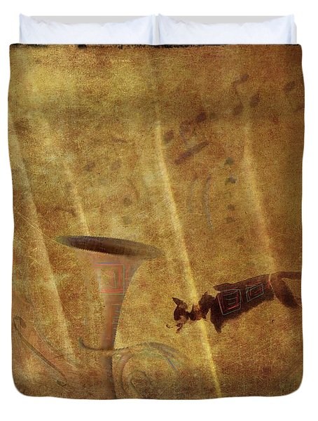 A Mirage Of Music Duvet Cover by Suzy Norris