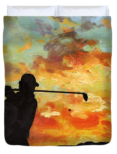 A New Dawn Duvet Cover by Catf