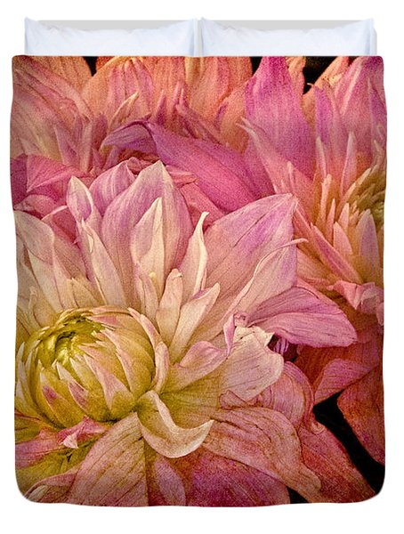 A Pastel Bouquet Duvet Cover by Chris Lord