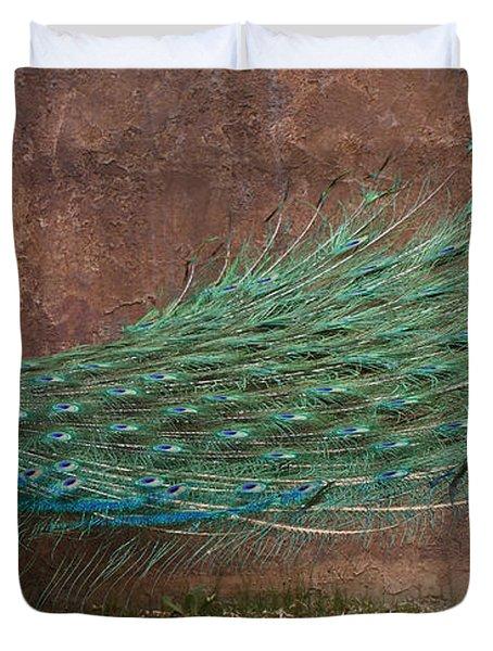 A Peacock Duvet Cover by Ernie Echols