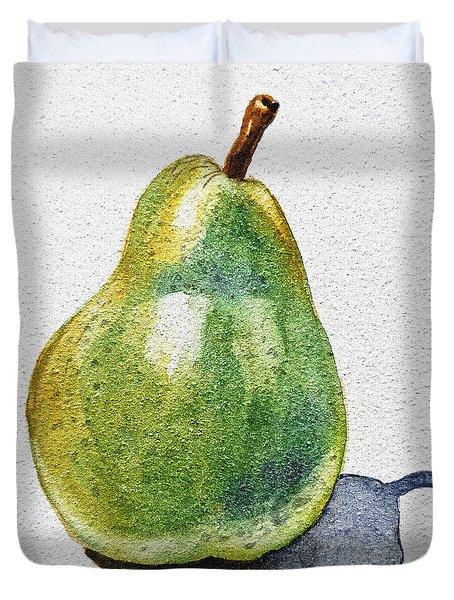 A Pear Duvet Cover by Irina Sztukowski