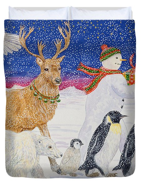 A Present For Santa  Duvet Cover by Catherine Bradbury