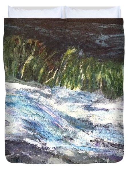 A River Runs Through Duvet Cover by Sherry Harradence