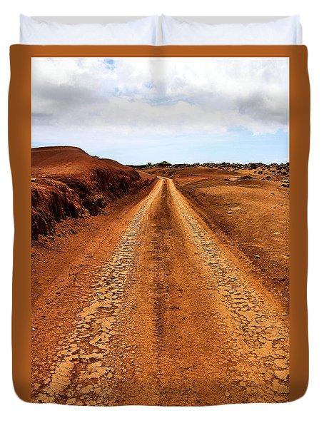 A Road Less Traveled Duvet Cover by DJ Florek